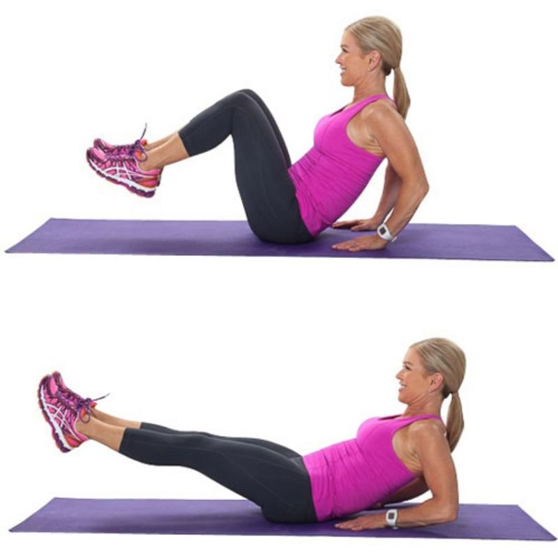 Exercises For Six Pack Abs - Seated Knee Ups