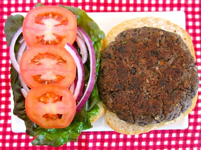 Black Bean Burger above