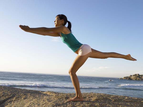 Pilates balance exercise