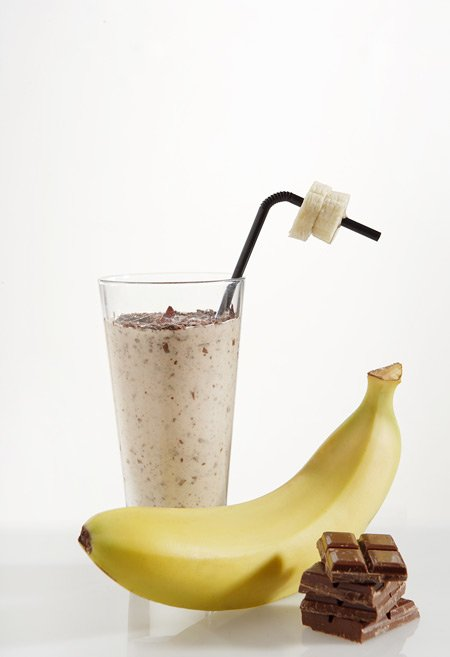 Chocolate and banana shake
