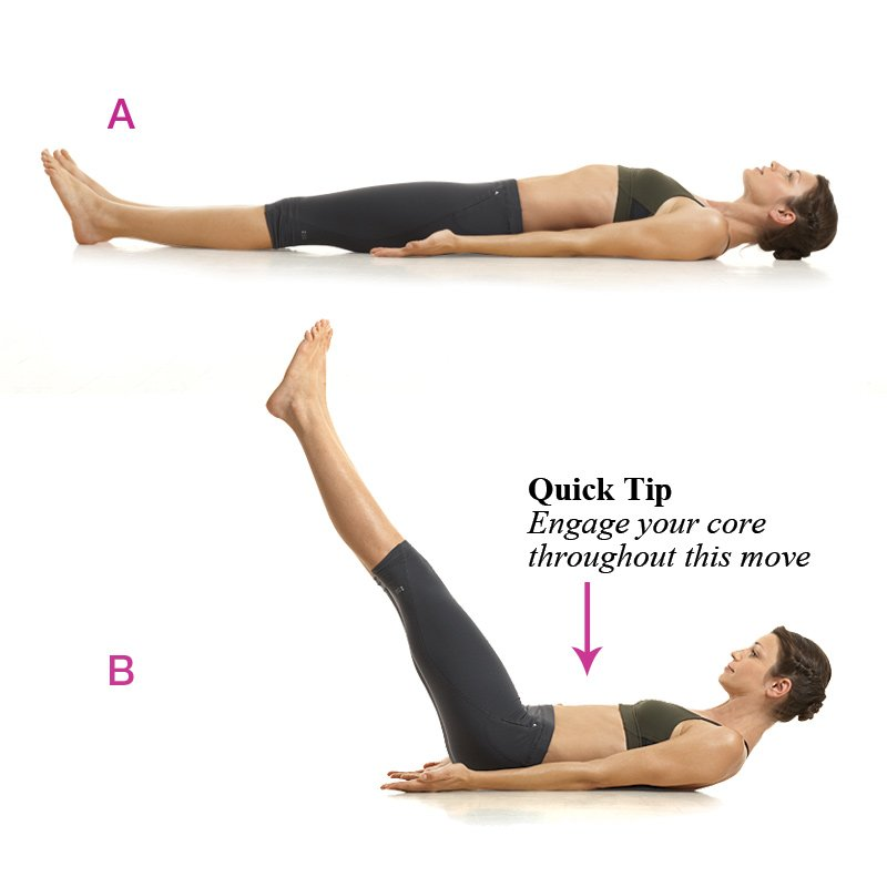 7 great waist exercises for abs back and buttocks for Floor ab workouts