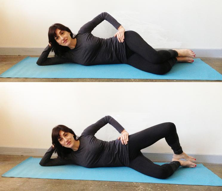 Cellulite exercises Clamshell