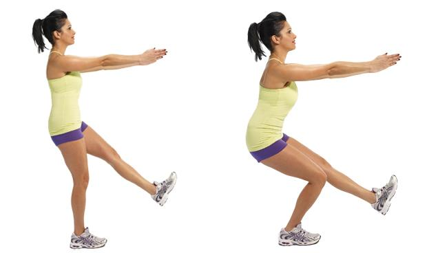 Cellulite exercises Single leg squat