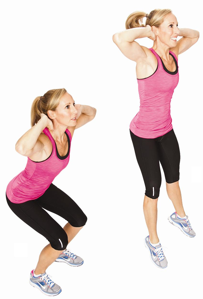 Cellulite exercises Squat Jumps