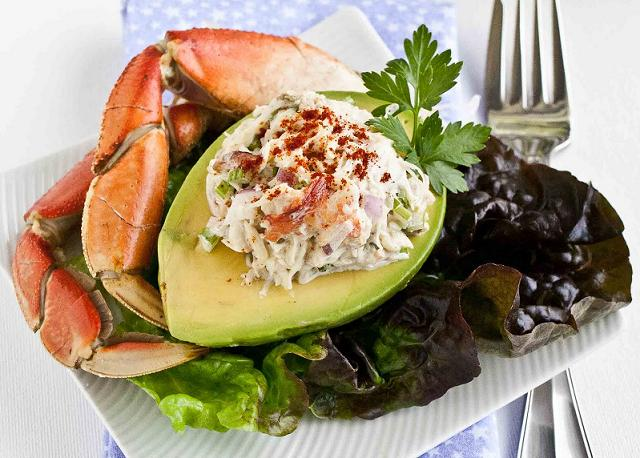 Crab Salad Stuffed Avocado-6