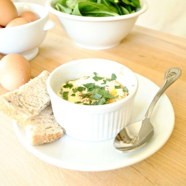 fitneAss | Eggs en Cocotte | Easy Baked Eggs
