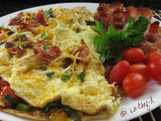 healthy nutrition omelette