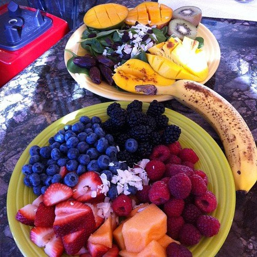 protein shake fruits