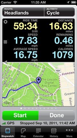 cyclemeter app