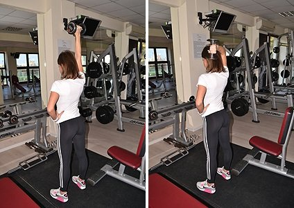Shoulder exercises in the gym