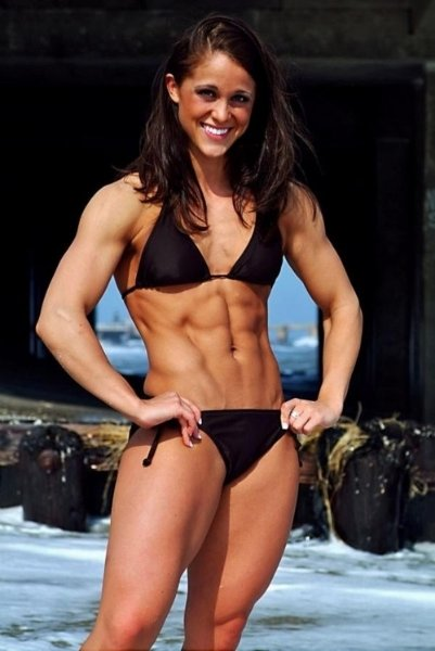 female with 8 pack abs