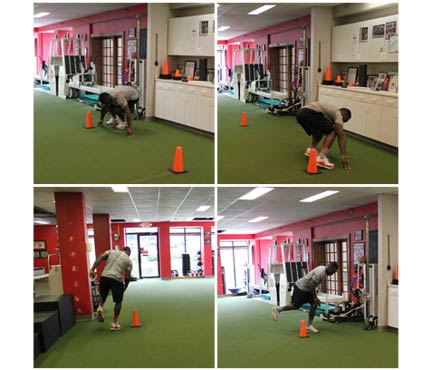 football-workout-L cone drill