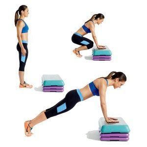 woman doing fat burning exercises
