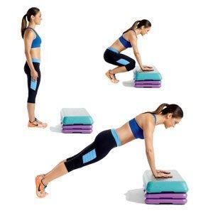 woman doing fat burning exercises