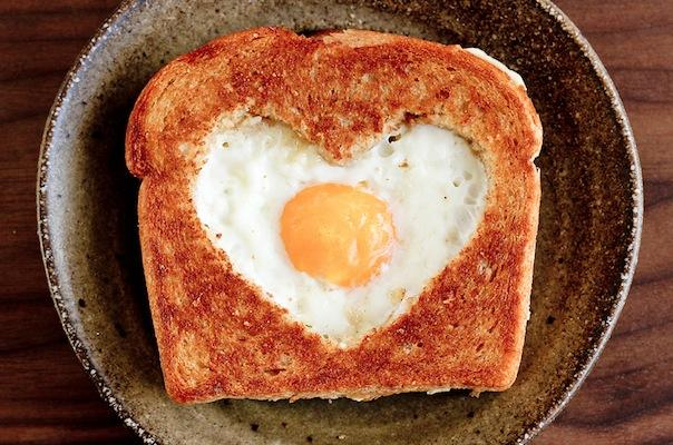 Valentine's Day Recipes Egg in the Basket
