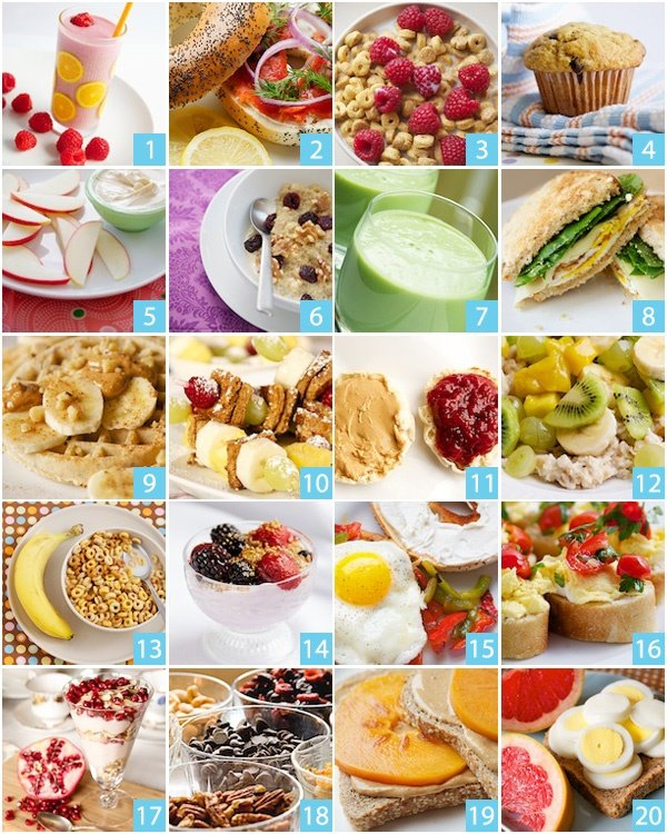 Ideas For Quick Breakfast Foods