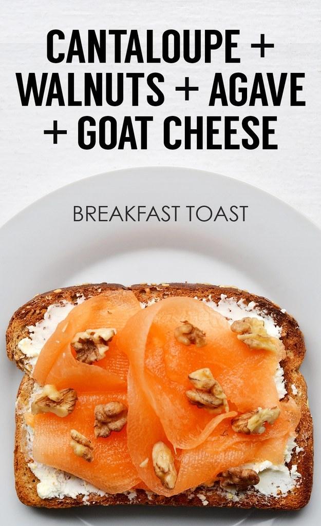 3. Ribboned Cantaloupe + Chopped Walnuts + Agave + Goat Cheese