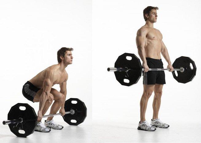 300 Workout barbell deadlift