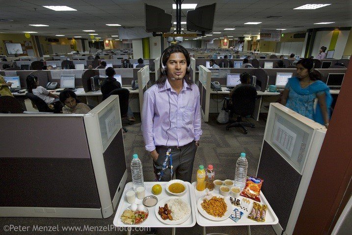 Different Foods Call Center Worker