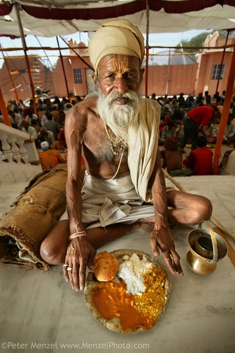 Different Foods Hindu Priest