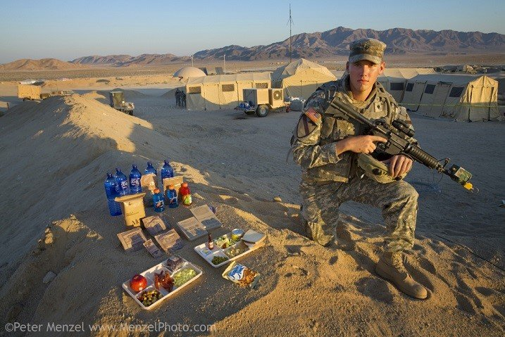 Different Foods US Army Soldier