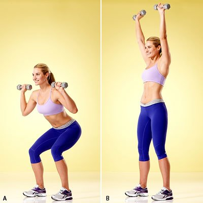 Thigh toning Narrow Squat