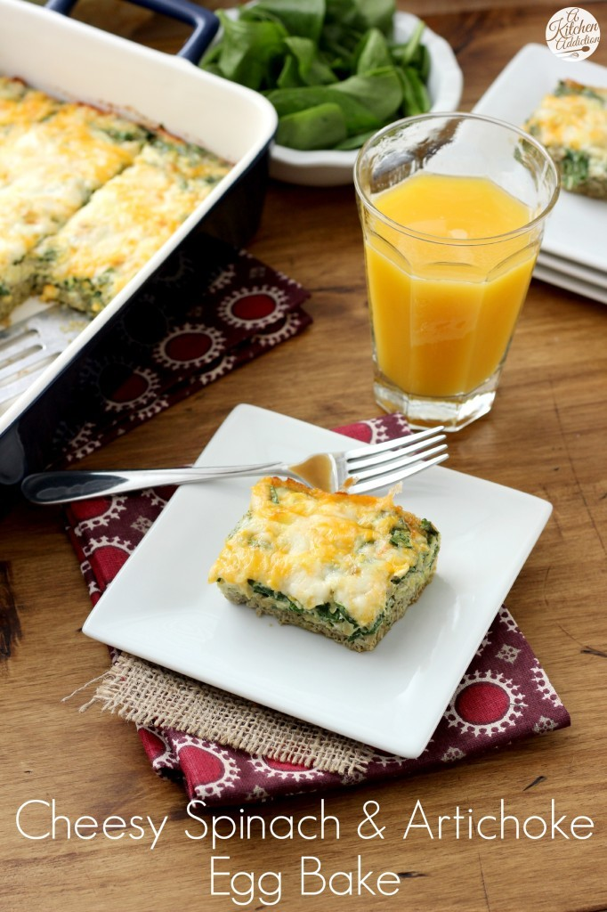 fitneAss | Cheesy Spinach And Artichoke Egg Bake Recipe