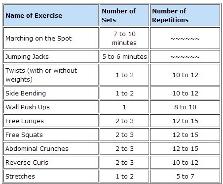 Morning exercise routine