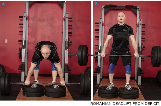 Romaniam deadlift del déficit
