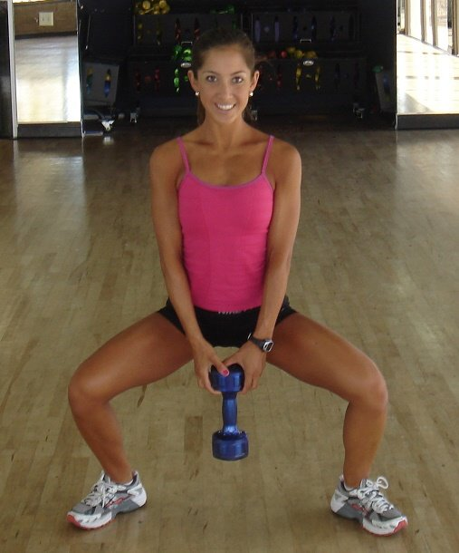 Sumo Squat with Dumbbell