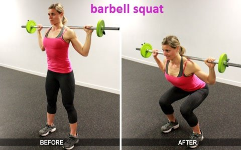 30-Minute Workout Barbell squat