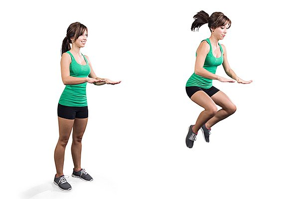 Exercises with jump shoes