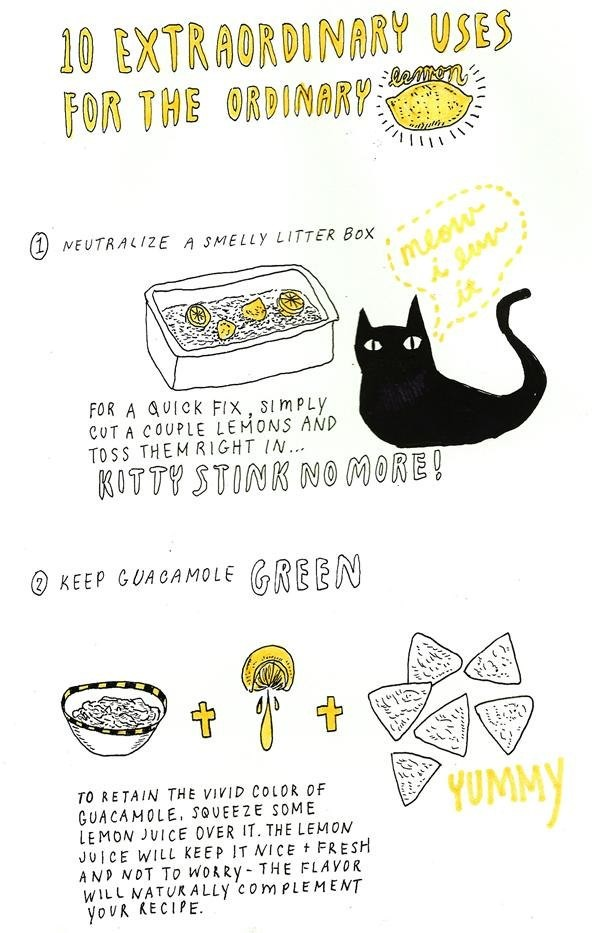 Extraordinary uses for lemons
