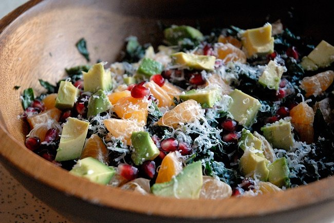 Avocado Tangerine Kale Summer Salad