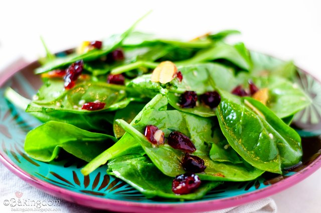Cranberry Spinach Summer Salad