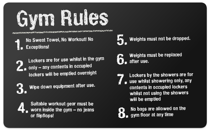 Gym Rules And Regulations on Weight Room Safety Rules