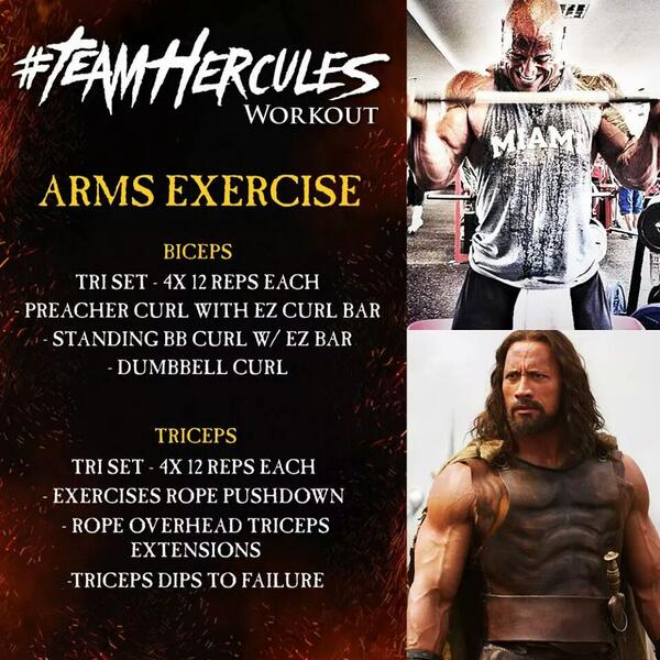 Hercules Workout Arms exercise