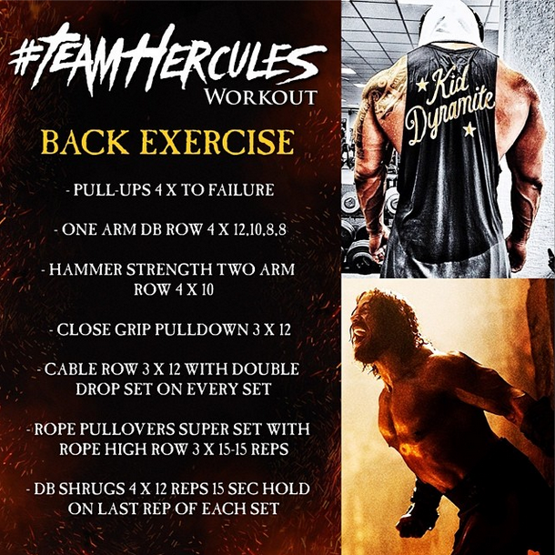 Hercules Workout Back exercise