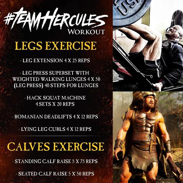 Hercules Workout Legs exercise