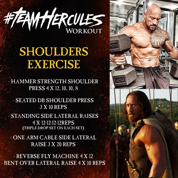 Hercules Workout Shoulders exercise