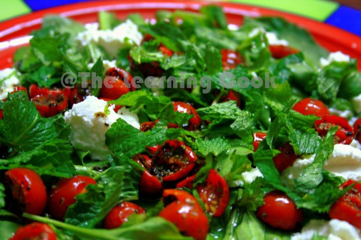 Roasted Tomato Summer Salad with Mint