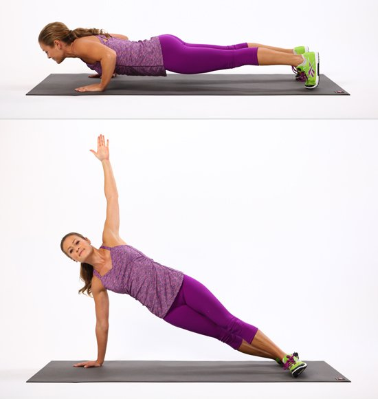 Warm up exercises T Push Ups