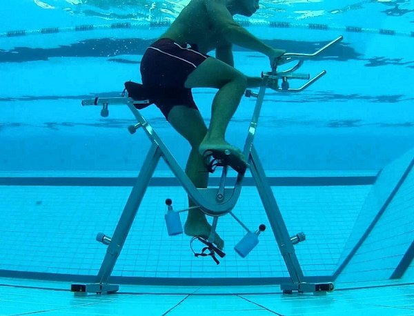 Water bicycle exercise