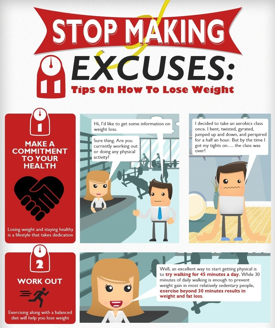 Time To Stop Making Excuses: Weight Loss Tips