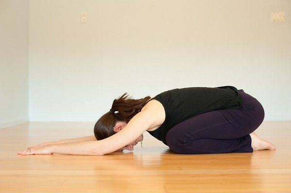 lower back muscles with Child Pose