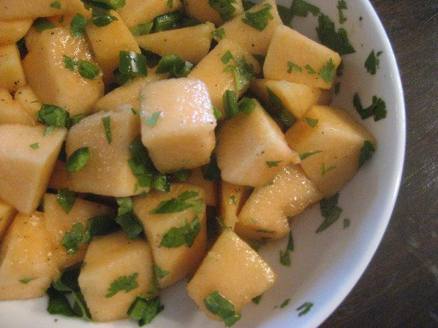 Picnic recipe - Cantaloupe salad
