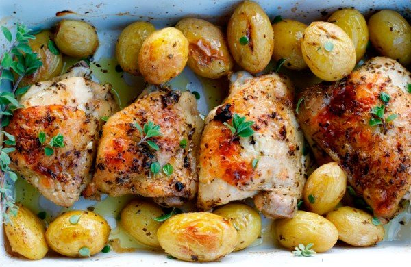 Italian style Potatoes with Chicken