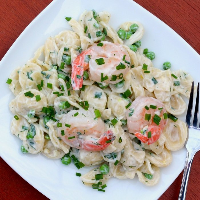 Chilled Seafood Pasta Salad With Ginger Yogurt Dressing Recipes ...
