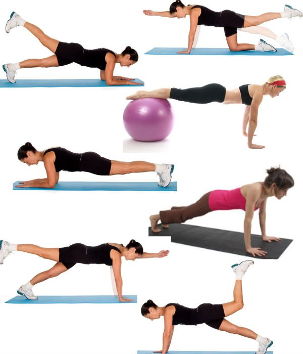 Exercise plank position