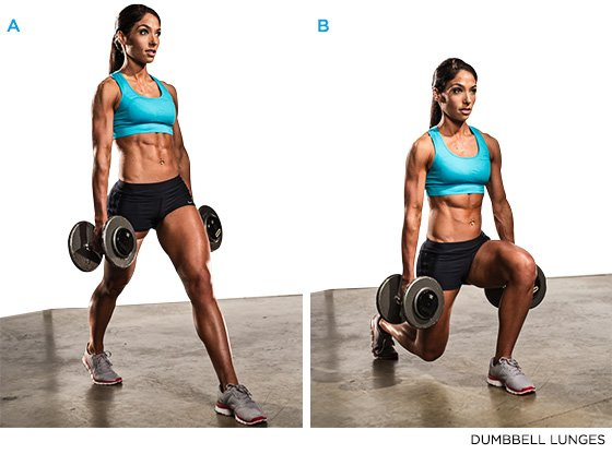 Full body exercise Lunges